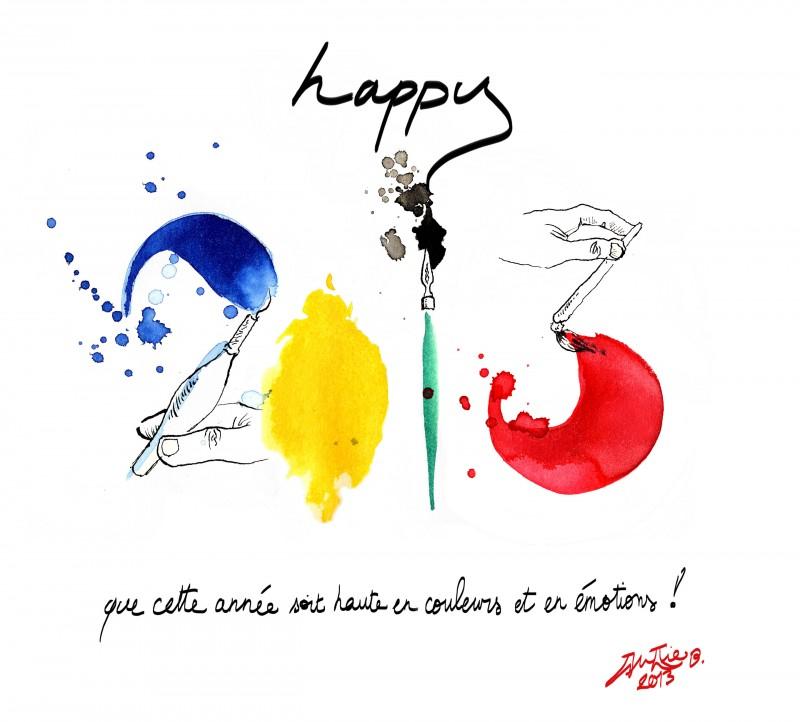 julie blaquié graphiste illustratrice sur bordeaux vous souhaite une bonne année 2013