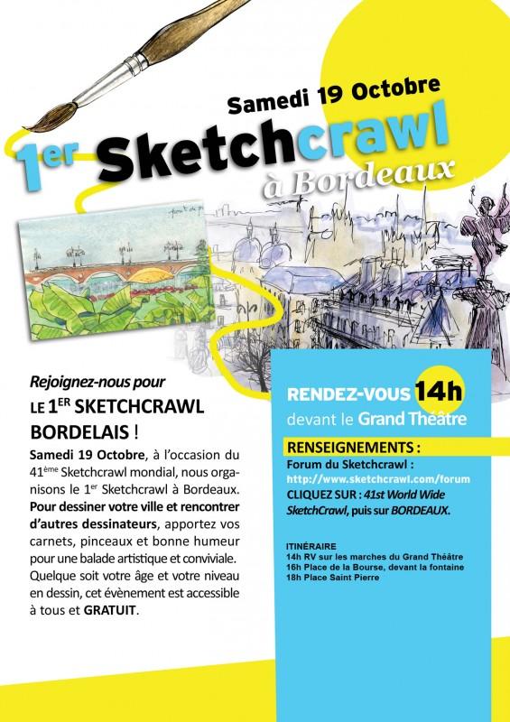 Sketchcrawl à Bordeaux !