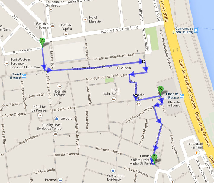 plan itinéraire