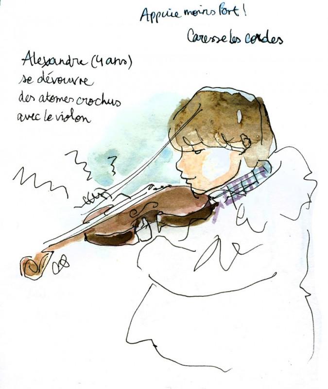 ZAMOUN Sliman, luthier passionné, fait tester ses violons à tout le monde
