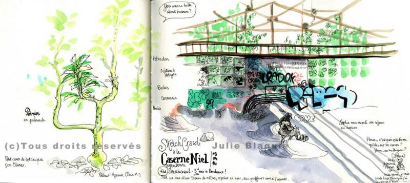 3ème Sketchcrawl à Bordeaux, organisé par Julie Blaquié et Sophie Bataille