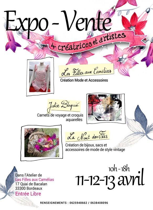 Expo-Vente à l'Atelier-boutique Les Filles aux Camélias