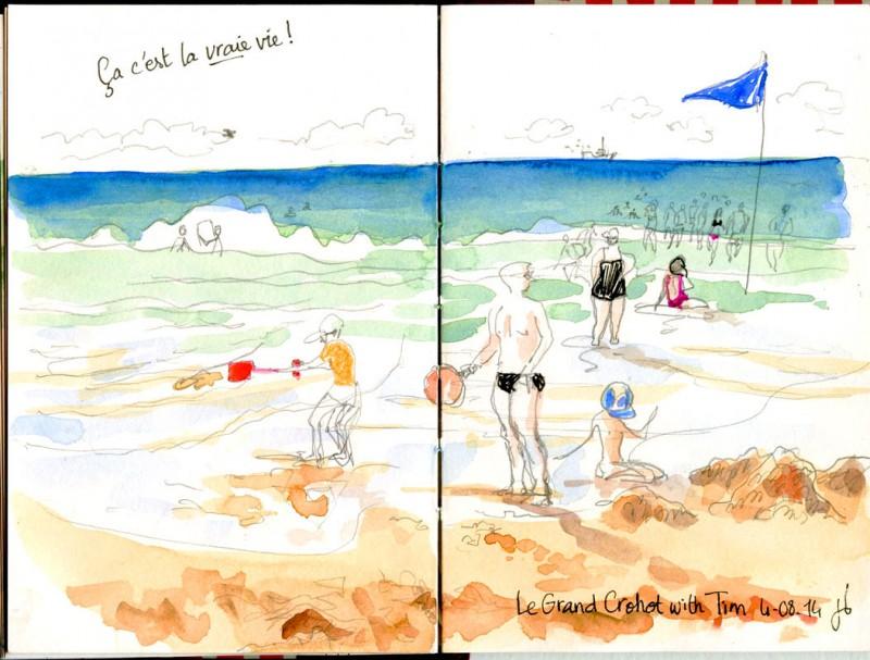 Mon premier jour à la plage cet été. L'eau était bonne !