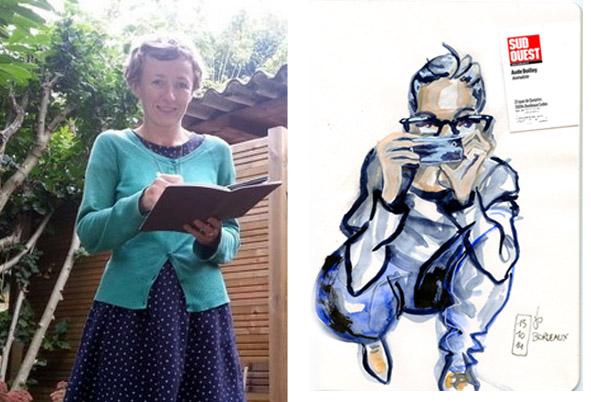 Julie Blaquié croquis dessine Sud-Ouest