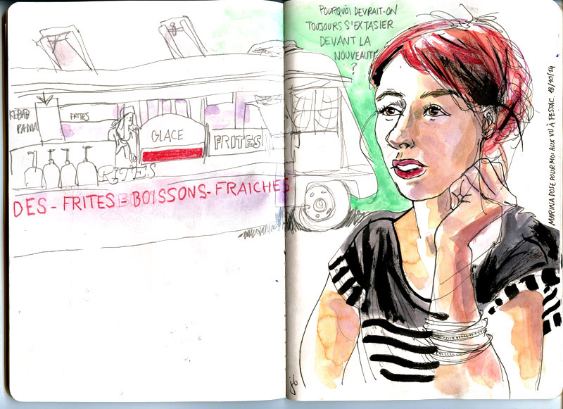 Julie Blaquié dessin, illustration, croquis