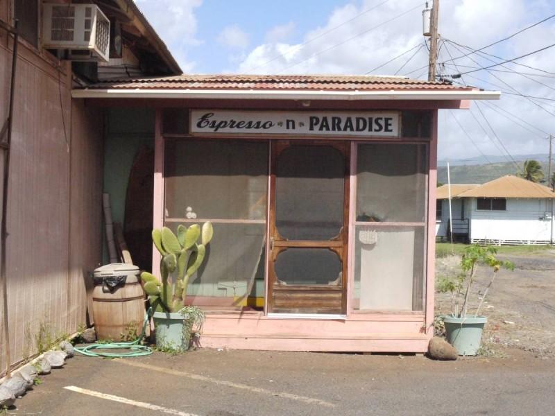 Petit café-galerie d'art à Waimea