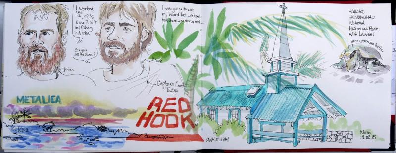 Carnet de Voyage Hawaii Julie Blaquié