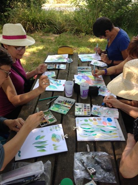 Peindre au parc