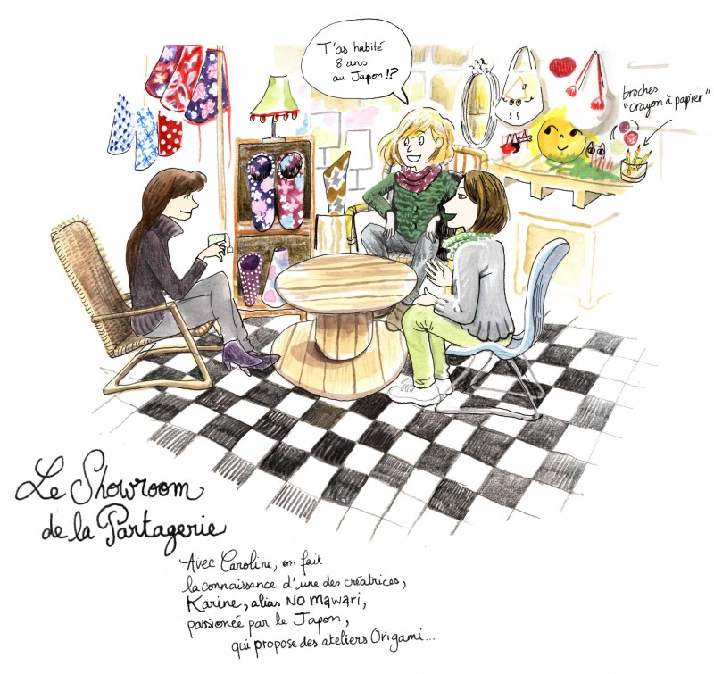 Julie Blaquié illustration Bordeaux, ateliers, carnet de voyage