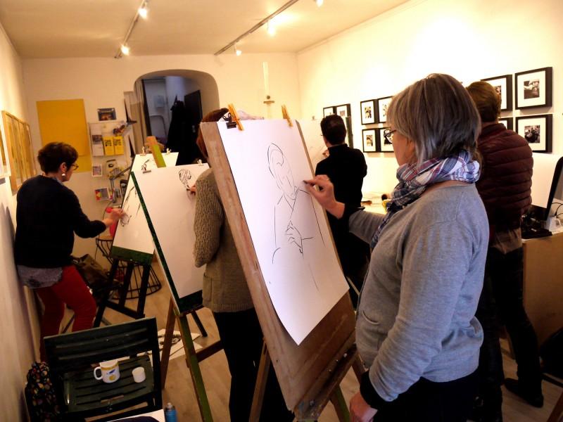 Julie Blaquié, dessin, carnet de voyage, illustration, portrait, bordeaux