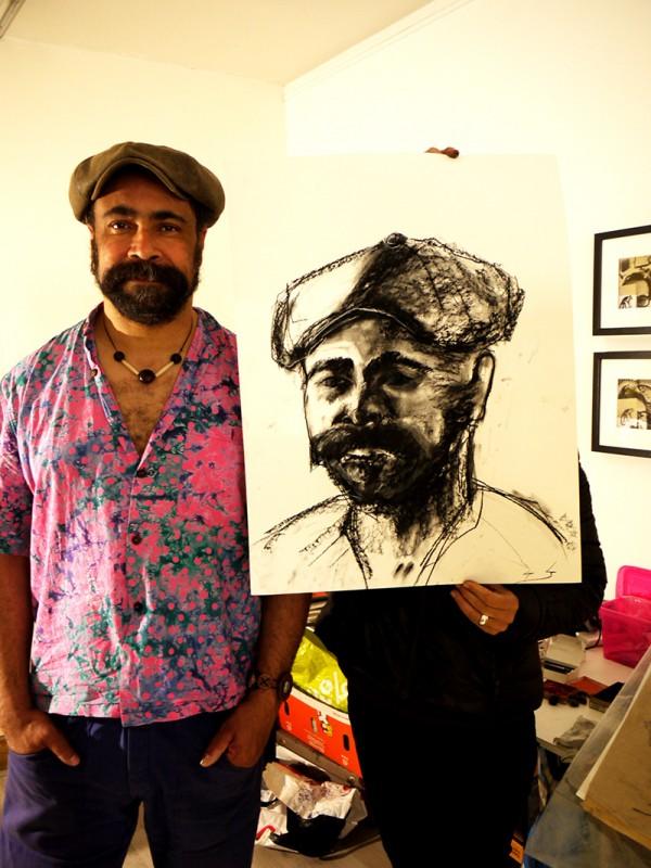 atelier dessin, arts plastiques, portrait, fusain, aquarelle