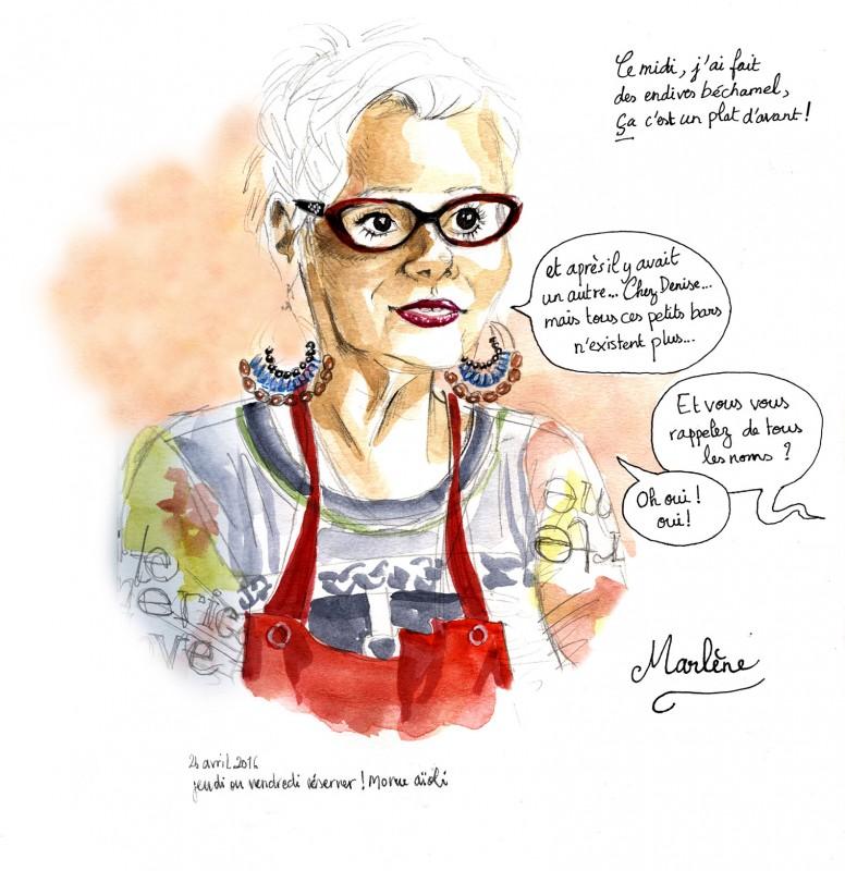 Chez Marlène, restaurant Bordeaux, illustration Bordeaux, Julie Blaquié