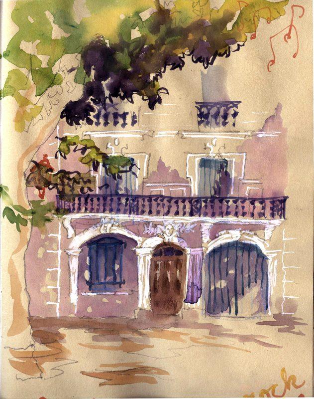 Julie Blaquie croquis voyage illustration