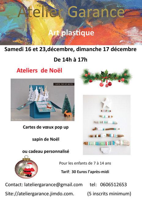 Atelier créatif, arts plastiques, Noël, enfants, Bordeaux