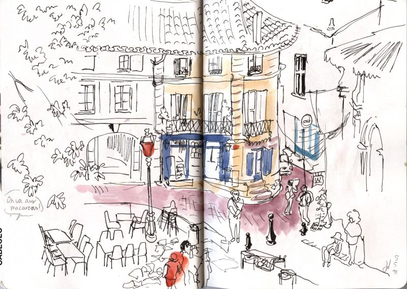 Sketchcrawl St Emilion, Sketchcrawl Bordeaux, Julie Blaquie Bordeaux, Urban Sketchers