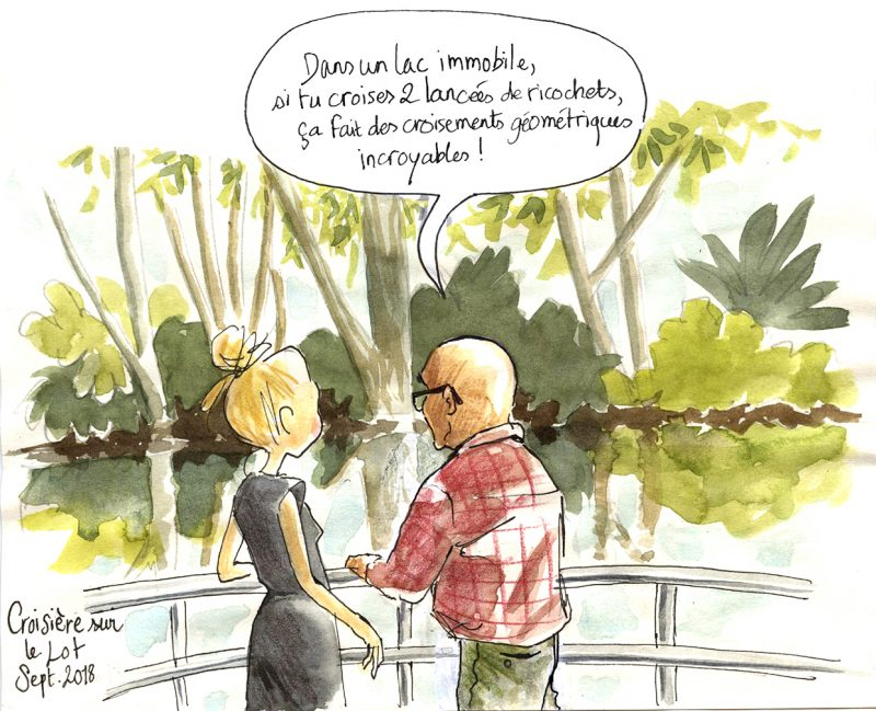 Illustration Bordeaux, julie blaquié, carnet de voyage