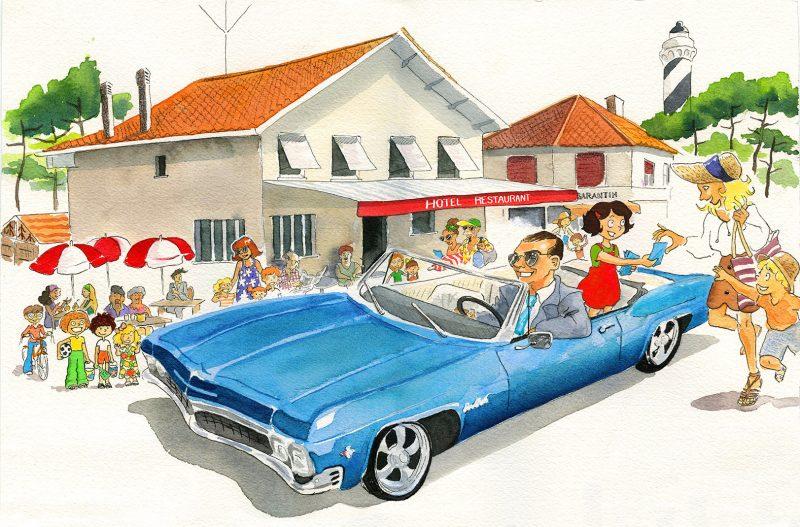 illustration Bordeaux, julie Blaquié, impala, contis
