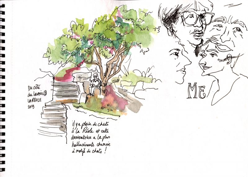 Sketchcrawl, La Réole, illustration bordeaux, julie Blaquié 2019, aquarelle, croquis
