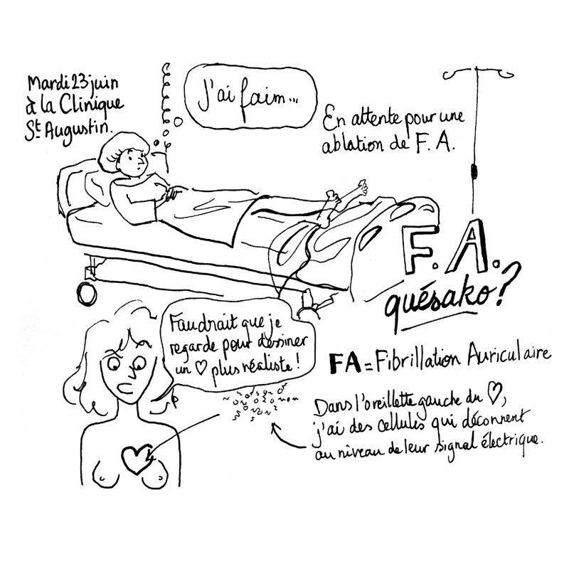fibrillation auriculaire illustration julie blaquié